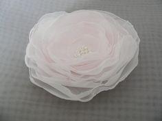 Bridal Hair Flower Clip Blush Pink Rose by WeddingIdeasByJudy, $20.00