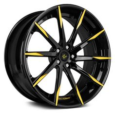 custom car rims yellow - Google Search
