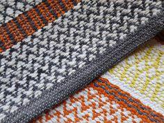 Weaving Textiles, Weaving Patterns, Woven Rug, Scandinavian Style, Pattern Design, Blanket, Crochet, Tyger, Rag Rugs
