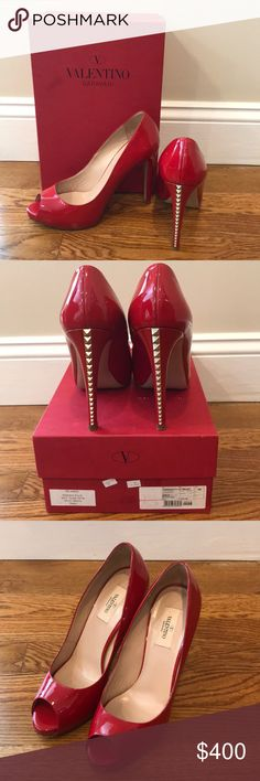 9659f598d2 ❤️Valentino Garavani Rockstud Peep Toe Heels Shoes Authentic Valentino  Garavani Rockstud Heels! Rare Peep