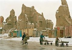 Afghanistan's capital, Kabul, has suffered extensive damage since the early 1990s. Vicious civil war, fought on Kabul's streets, took a heavy toll on human life and brought about the complete destruction of the city's infrastructure. 6/2/2002. Kabul, Afghanistan. UN Photo/Eskinder Debebe.