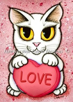 QS Cat Nip Lil Valentine Love by Hawks, Carrie