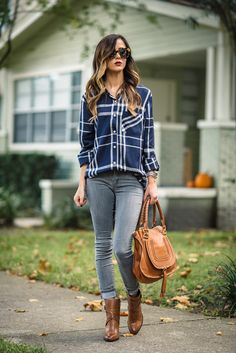 plaid button up