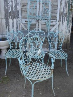 Set of garden chairs from the '30s