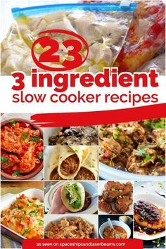 I'm slowly working my way through these and all the ones I've tried so far are great! 3-ingredient-slow-cooker-recipes awesome dinner ideas
