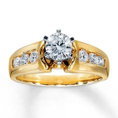 Diamond Engagement Ring 1 ct tw Round-cut 14K Yellow Gold