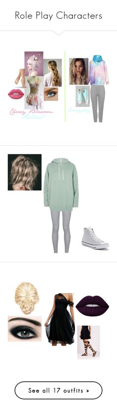 """""""Role Play Characters"""" by darker-daydream ❤ liked on Polyvore featuring WearAll, Lime Crime, Converse, NIKE, River Island, ASOS, Max Factor, Dorothy Perkins, Oscar de la Renta and self-portrait"""