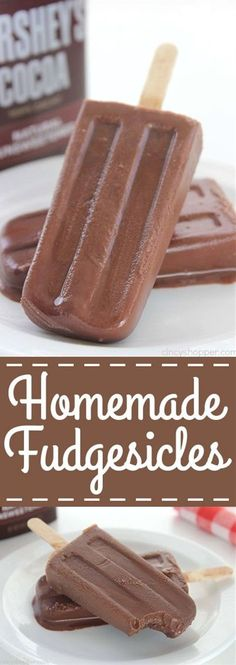 Fudgesicles Homemade Fudgesicles - such a tasty, quick and easy cold treat for summer.Homemade Fudgesicles - such a tasty, quick and easy cold treat for summer. Frozen Desserts, Frozen Treats, Just Desserts, Delicious Desserts, Dessert Recipes, Yummy Food, Yummy Mummy, Yummy Eats, Yummy Appetizers