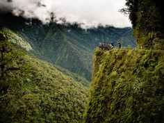 The Death Road, Bolivia: Bolivia's Old Yungas Road is a winding, 40-mile-long stretch that links the high Andean capital city of La Paz to C...