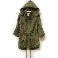 Easy Leisure Girl Army Green Military Parka Button Trench Hooded Coat Jacket easy-women clothes http://www.amazon.com/dp/B00N9P43QA/ref=cm_sw_r_pi_dp_5DmNvb0EBJ11V