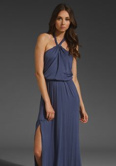 Maxi dresses were made for the summer.