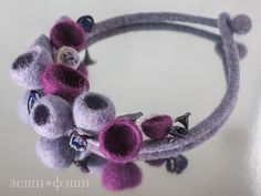 This outstanding necklace made from felted wool от KulikovaShop