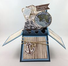 Open Seas Card In A Box - awesome masculine b'day card