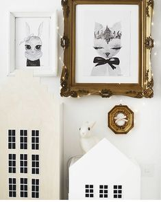 Miss Blu & Crown - By Christine Hoel prints Kidsroom, Happy Sunday, Decoration, Gallery Wall, Childrens Rooms, A3, Frame, Interior, Prints