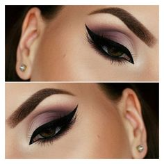 The Perfect Smokey Eye Makeup for Your Eye Shape ❤ liked on Polyvore featuring beauty products and makeup