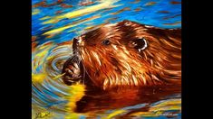 This is a step by step Oil Painting demonstration of a North American Beaver on a gallery wrapped canvas. North American Beaver, Daisy Painting, Step By Step Painting, Painting Videos, Oil, Canvas, Art Ideas, Pictures, Paintings