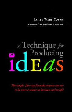 Brainpickings article:http://www.brainpickings.org/index.php/2012/05/04/a-technique-for-producing-ideas-young/