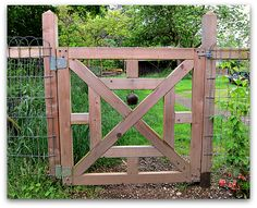 awesome garden gate with bell