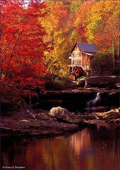 Fall ~ Country (Glade Creek Grist Mill, West Virginia)