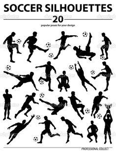 剪影足球运动员 - 图库插图: 48097139