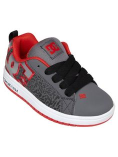 DC Court Graffik SE (Youth) - Black/Grey/Red-6.5 M Yth - Listing price: $50.00 Now: $45.00