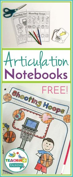 FREE articulation notebooks for speech & language therapy are perfect for working with mixed groups.