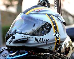 Masei US NAVY 802 Full Face Motorcycle Helmet - Free Shipping Worldwide