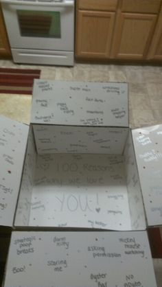 100 reasons why I love you deployment box