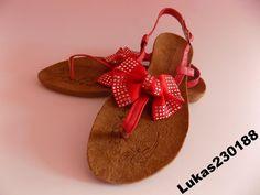 Sandały sandałki damskie z kokardką TANIO 36-41