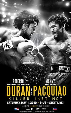 Boxing posters on Pinterest   Boxing poster Duran vs Pacquiao