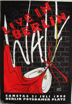 Pink Floyd - Berlin 1990 Rock Band Logos, Rock Bands, Pink Floyd Comfortably Numb, Concert Posters, Music Posters, Pink Floyd Poster, Berlin, Progressive Rock, Everything Pink