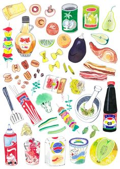 Food and drink illustration by Hennie Haworth