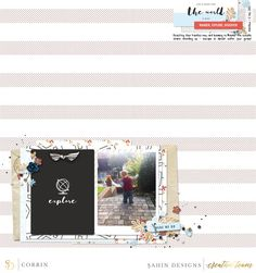 Digital scrapbook layout using Jaunt collection by Sahin Designs. Click thru to…