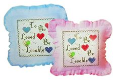 Pink New Cross Stitch Kit Letters And Loving Hearts Design Pillowcase  #LUOYAYICAI #PillowCover
