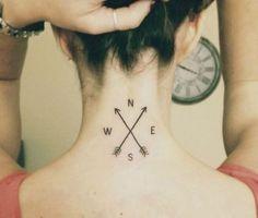 #tattoos for women - #compass
