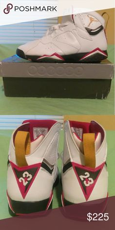 Nike Air Jordan VII 7 Retro WHITE BLACK CARDINAL Brand New In The Box 100℅ Authentic Never Worn Before Size 14. Jordan Shoes Athletic Shoes