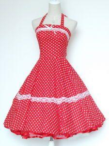 Super cute dress, vintage rockabilly style.
