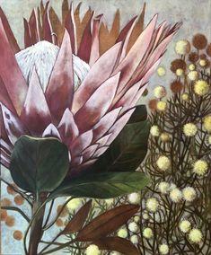 Oil on canvas - Susan Slump Oil On Canvas, My Arts, Plants, Plant, Planets