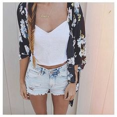 So I sense a theme of white shirts, light colored denim shorts, and floral cardigans this year and I'm loving it.