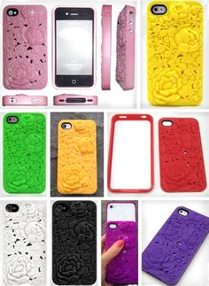 Sculptured Blossoms iPhone 4 and 4S cases