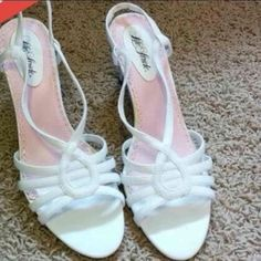For Sale: White Strapy Heels for $10