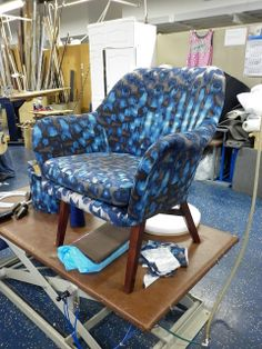 One of my favourite projects in school was this beutifull chair, fully restored with that interesting fabric. And it's all mine!