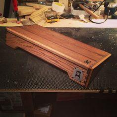 Nice hardwood pedal board