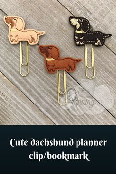 I love these adorable #dachshund planner clips/ bookmarks. Great gift, stocking stuffer #affiliate