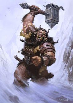 """Troll Beserker"" by James Ryman (namesjames) | #Fantasy #Trolls"