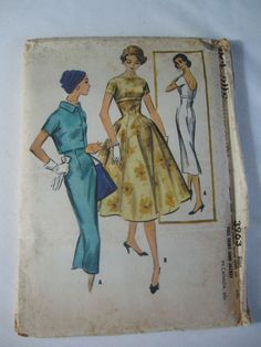 Vtg McCalls Sewing Pattern Dress Full Skirt