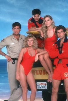Baywatch (1989–2001) Television series about a cadre of attractive lifeguards who patrol a crowded recreational beach.