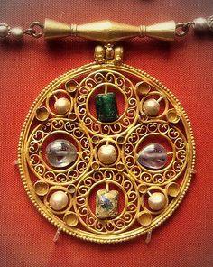 Circa AD 600  Byzantine pendant, Egypt.  British Museum - via Flickr