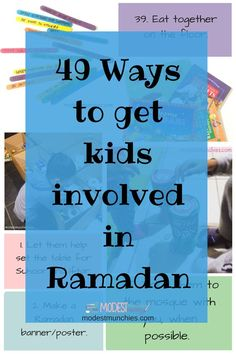 One question I've seen floating around on social media a lot is 'How do I get my children involved in Ramadan?', so I put together a post to answer this question. Involvement can mean a 49 Ways to get Kids Involved in Ramadan – Modest Munchies Ramadan 2016, Islam Ramadan, Ramadan Mubarak, Ramadan For Kids, Ramadan Tips, Eid Crafts, Ramadan Crafts, Fest Des Fastenbrechens, Crafts