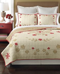 Martha Stewart Collection Bedding, Cabin Flowers Quilts - Quilts & Bedspreads - Bed & Bath - Macy's